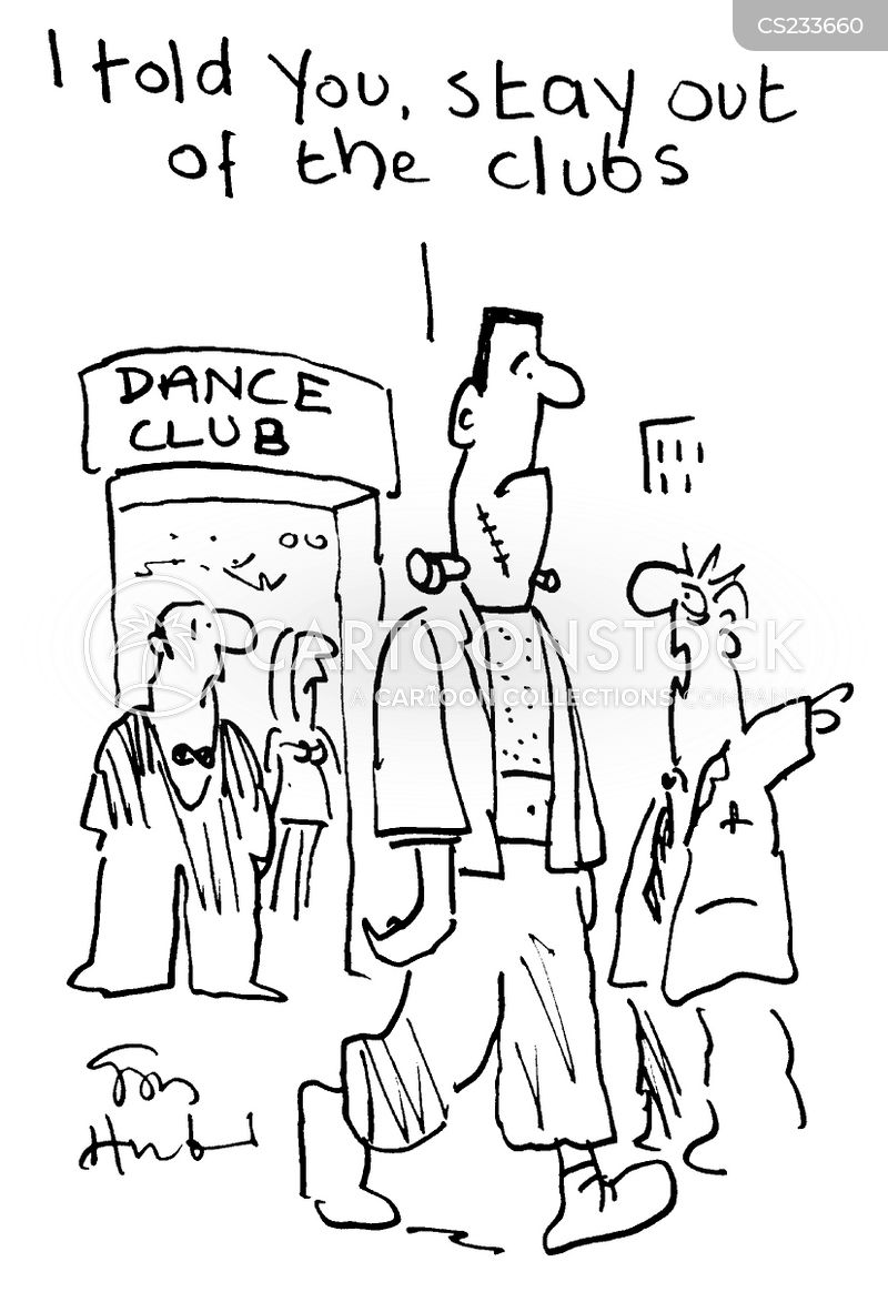 dance clubs cartoon