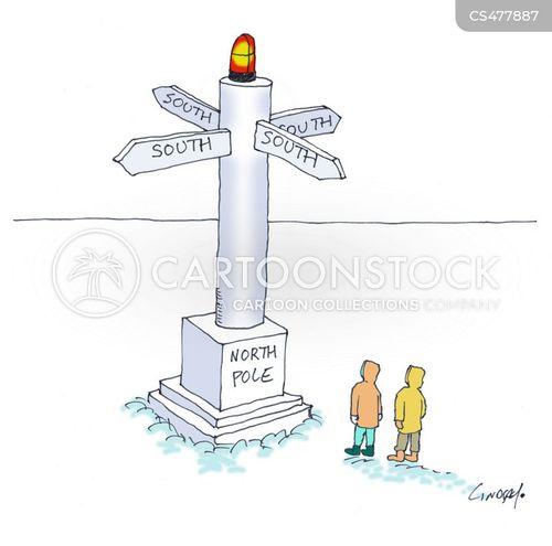 sign-post cartoon