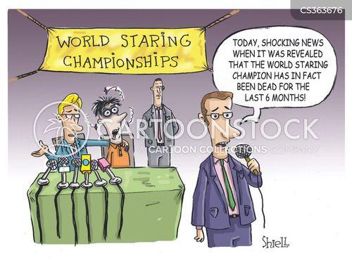 media hype cartoon