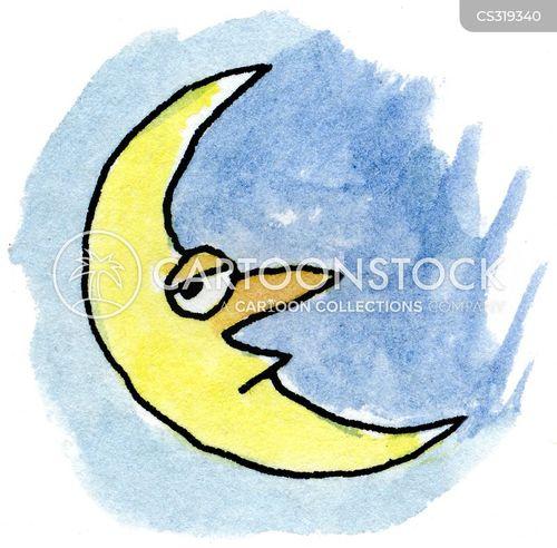 crescent moon cartoon