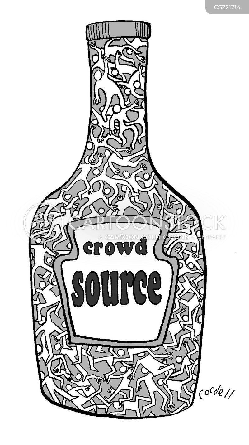 crowd-sourcing cartoon