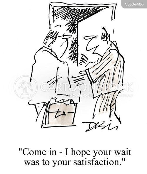 satisfied customers cartoon