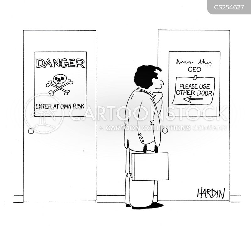 enter at own risk cartoon