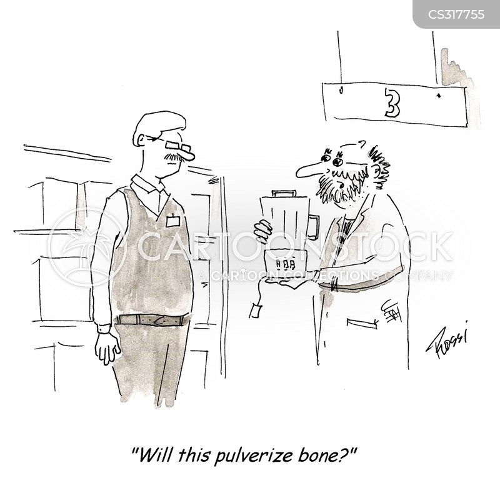 pulverizing cartoon