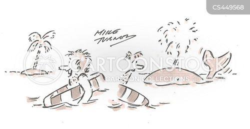 life rafts cartoon