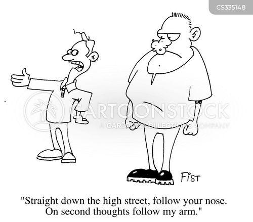 broken nose cartoon