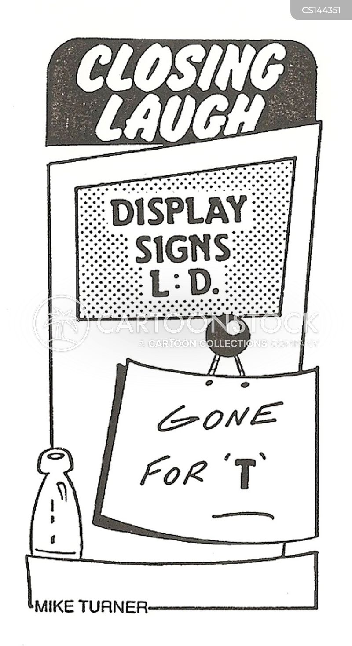 closed sign cartoon