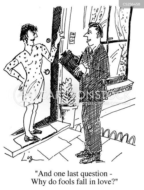door to door salesmen cartoon