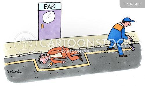 road marking cartoon