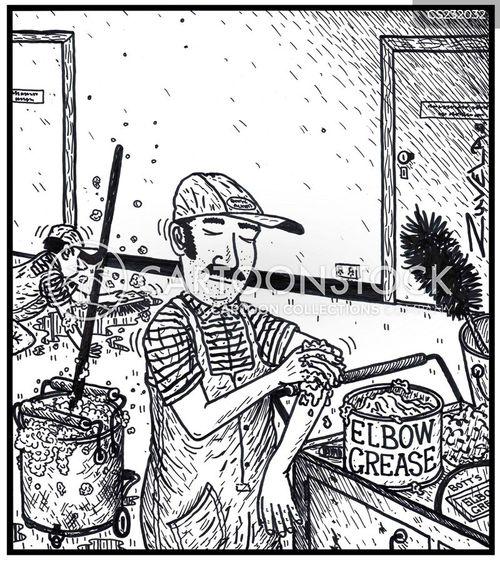 vigorous work cartoon