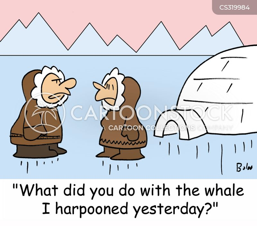 harpooned cartoon
