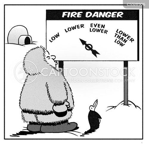 danger levels cartoon