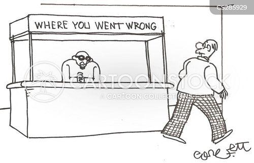going wrong cartoon