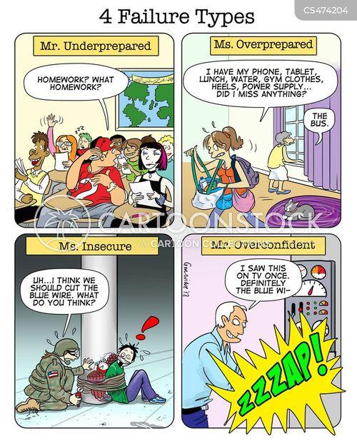 high stress situations cartoon