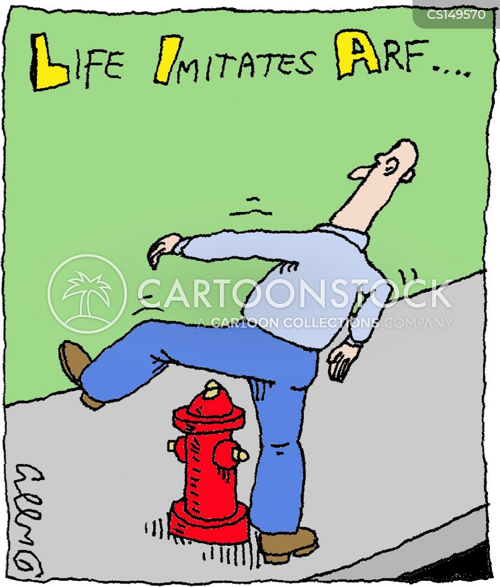 life imitating art cartoon