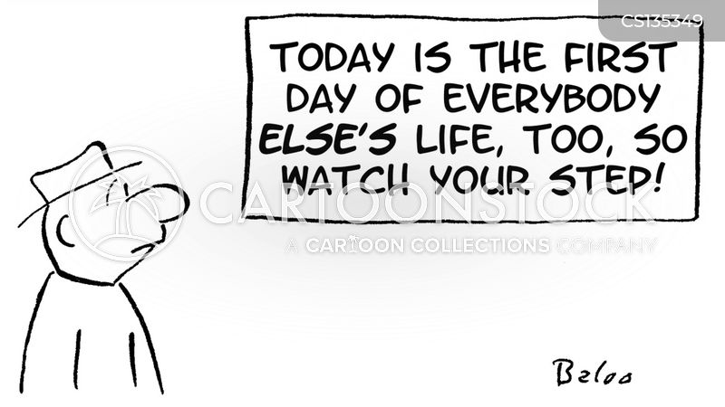 first day of the rest of your life cartoon