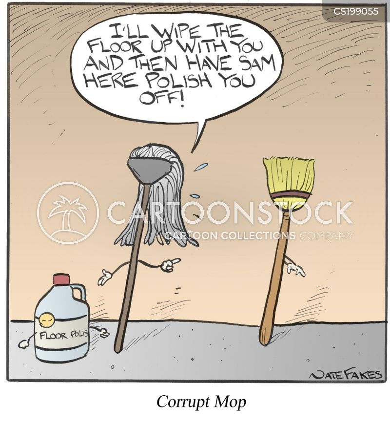 floor cleaning cartoon