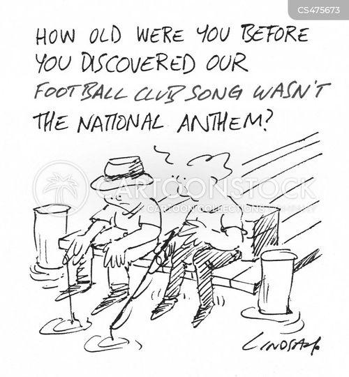 football anthem cartoon