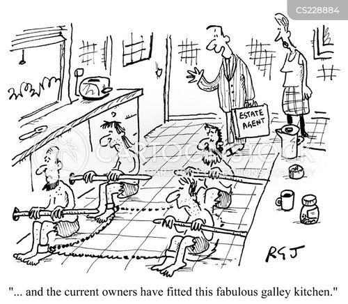 galley slaves cartoon