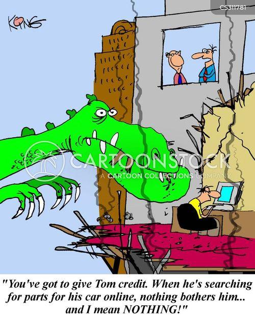 giving credit cartoon