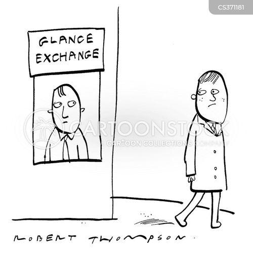 glances cartoon