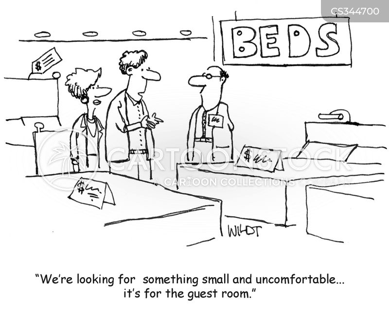 new bed cartoon