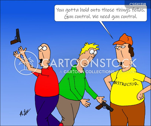 gun deaths cartoon