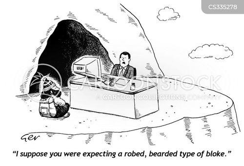 man on a mountain cartoon