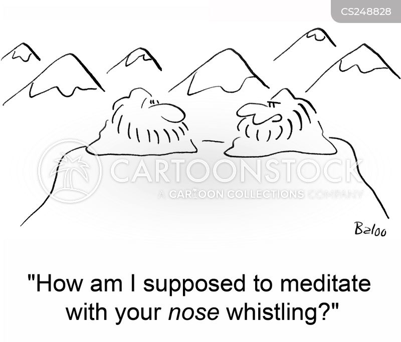 nose whistling cartoon