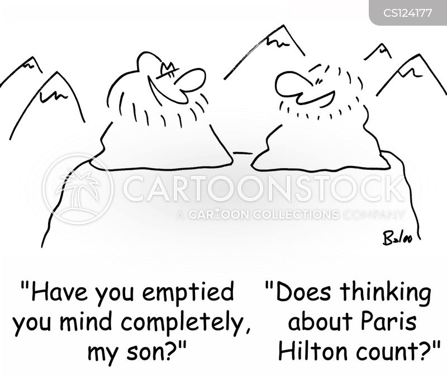 empty mind cartoon