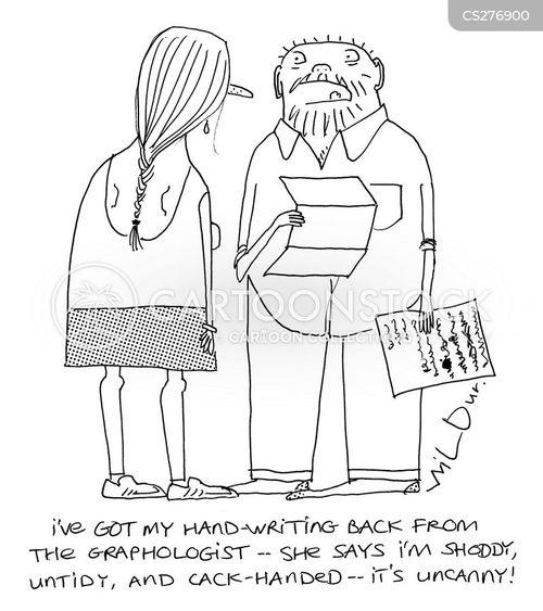 hand writing cartoon