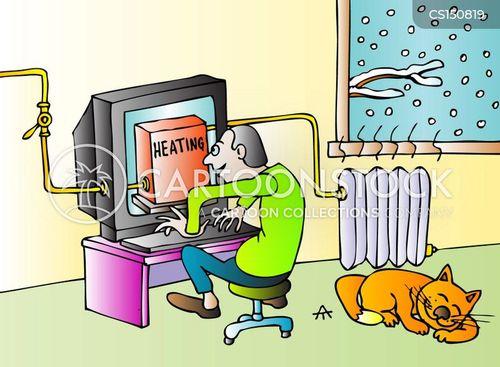 heating systems cartoon