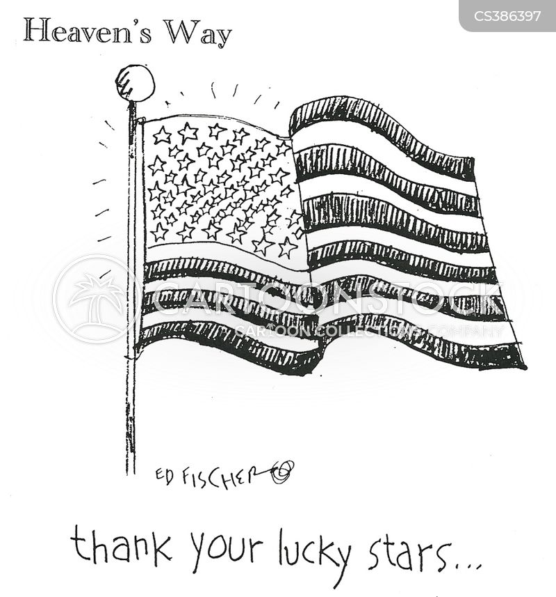 stars and stripes cartoon