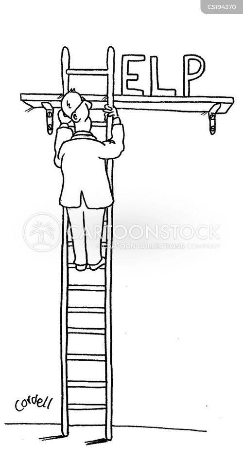 Výsledek obrázku pro ladder climbing comic