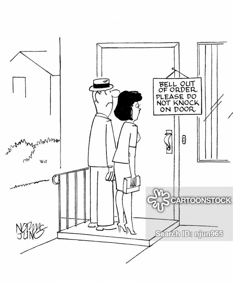 door bells cartoon