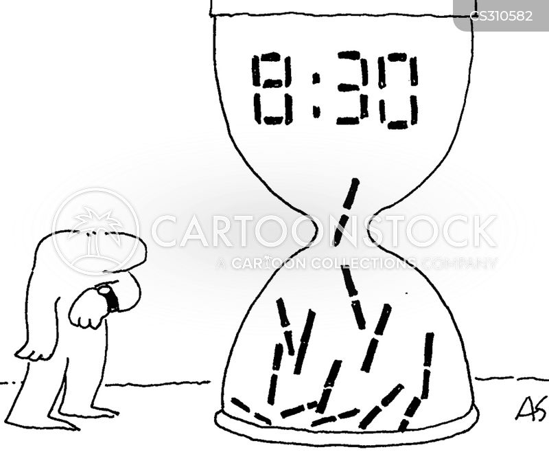 digital clocks cartoon