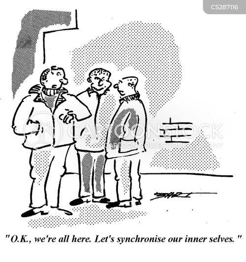 synchronise cartoon