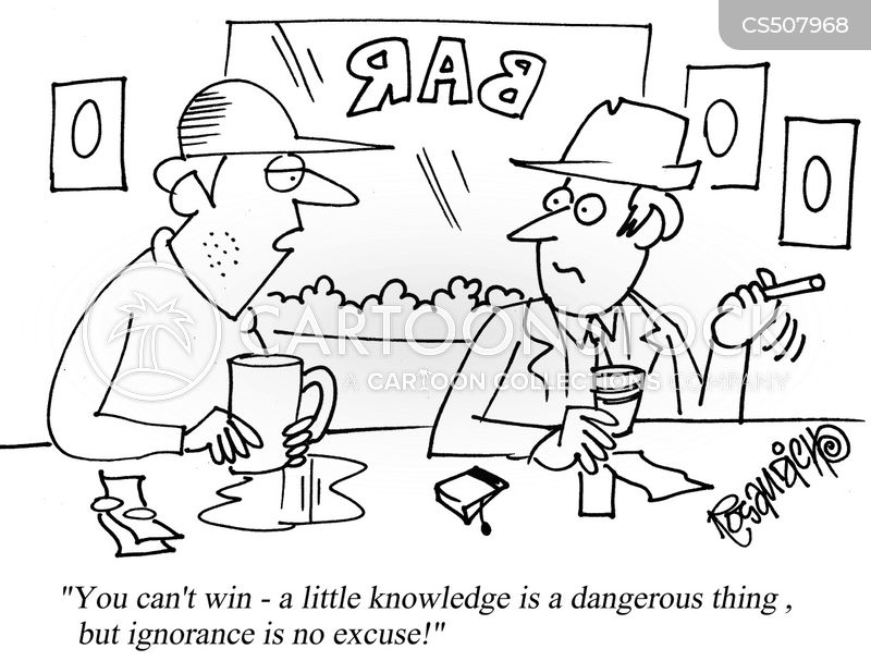 a little knowledge is a dangerous thing cartoon