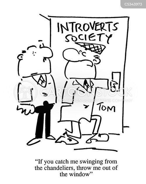 extroverted cartoon