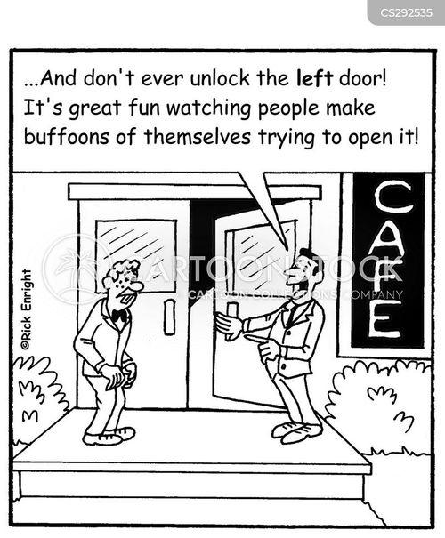 unlocked doors cartoon
