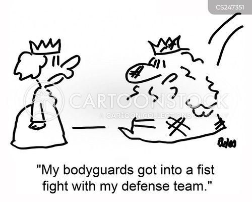 defense team cartoon