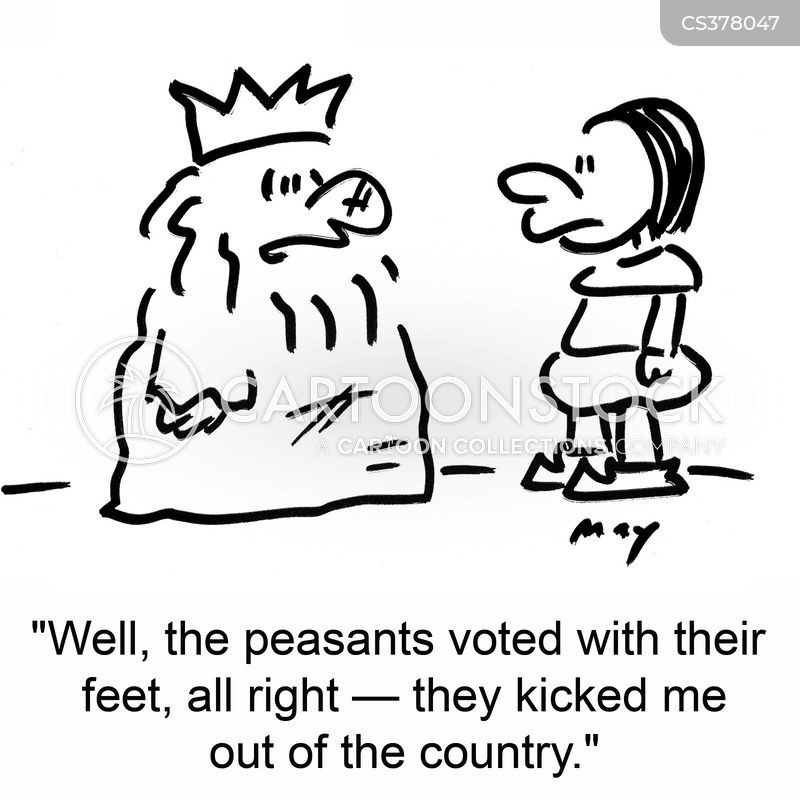 vote with your feet cartoon