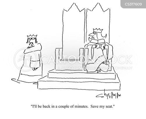saving seats cartoon