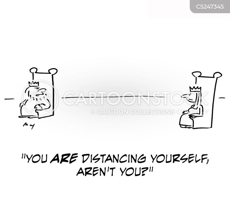 distancing yourself cartoon