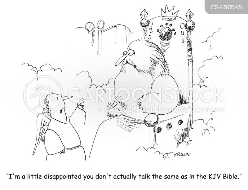 king james bible cartoon