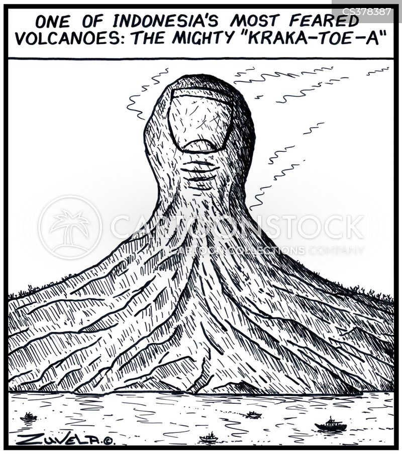 krakatoa cartoon