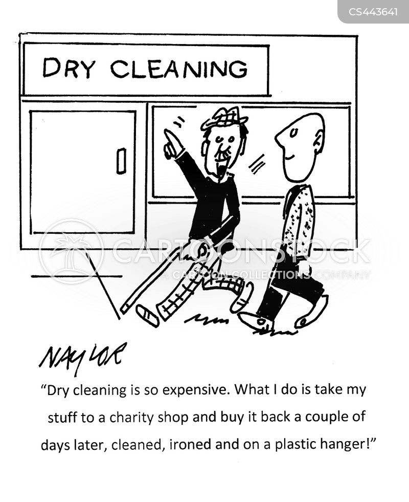 dry clean cartoon