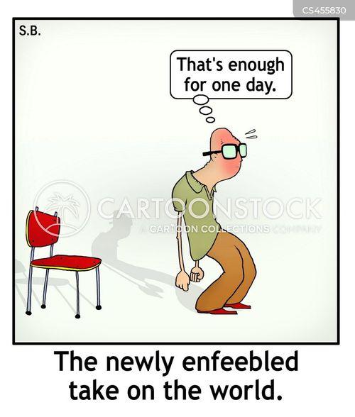 enfeebled cartoon
