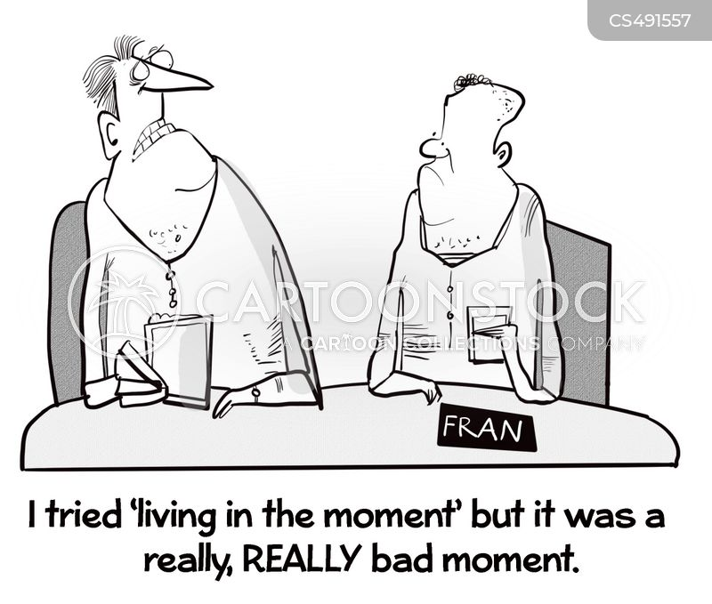 living in the moment cartoon