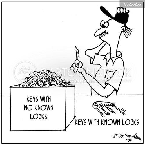 key lock cartoon